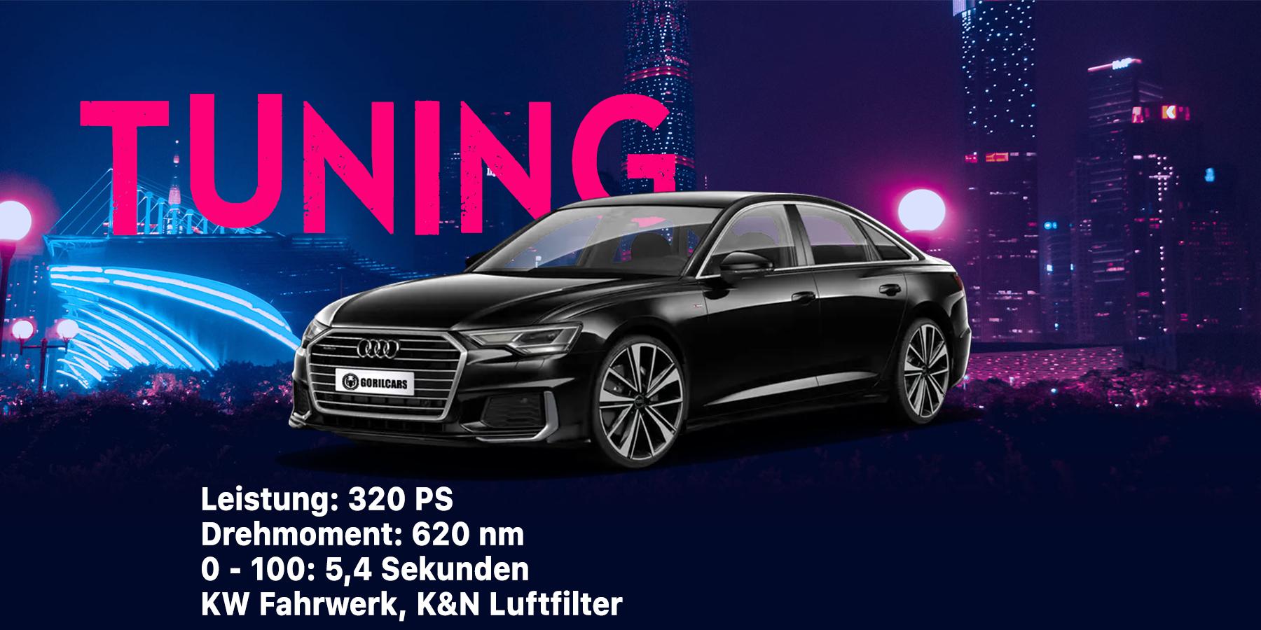 Audi A6 nach dem Tuning und der Softwareoptimierung bei Gorilcars
